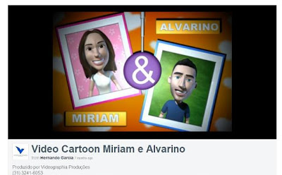 Vídeo Cartoon de Miriam e Alvarino